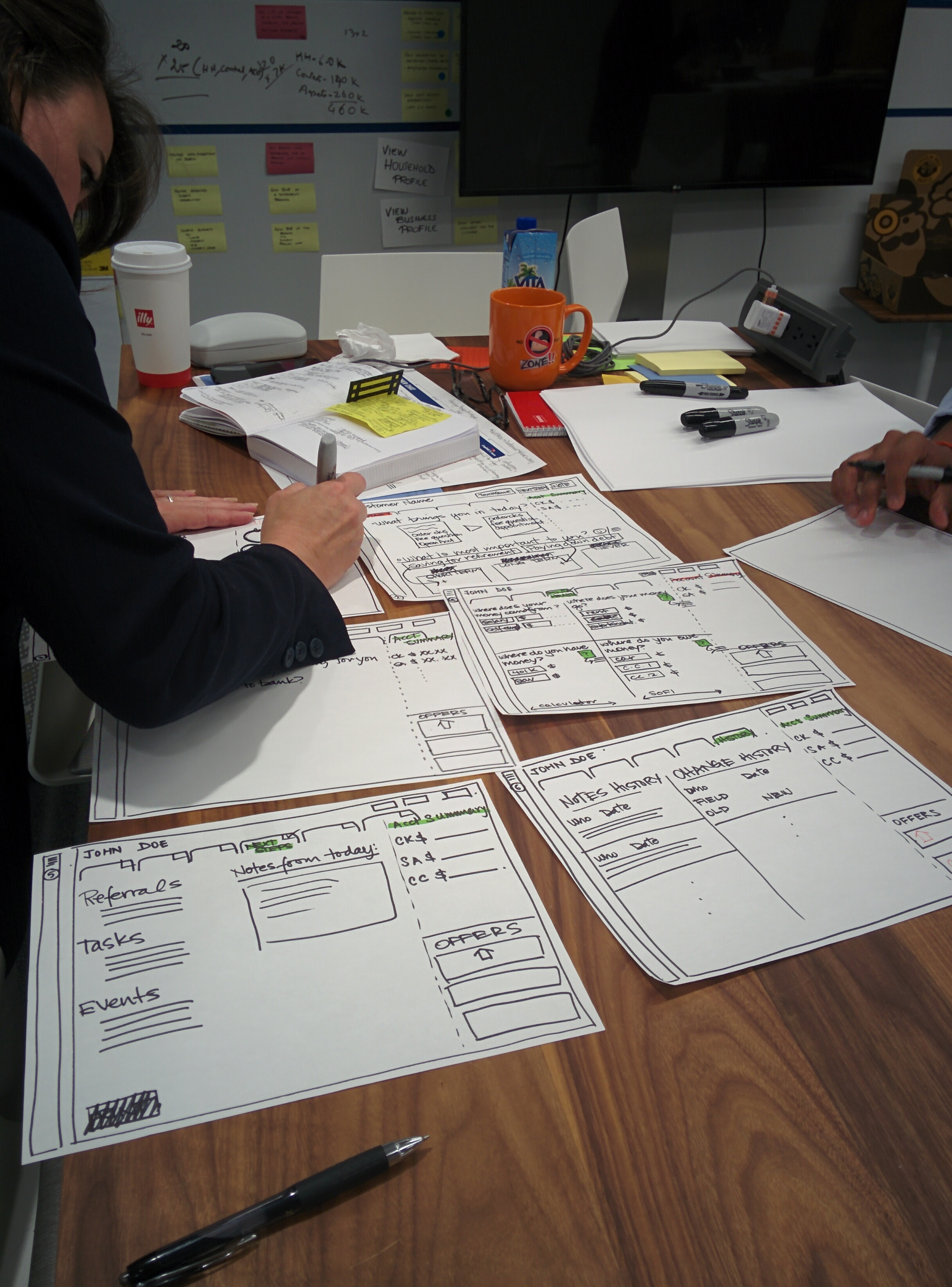Design Thinking and prototype testing