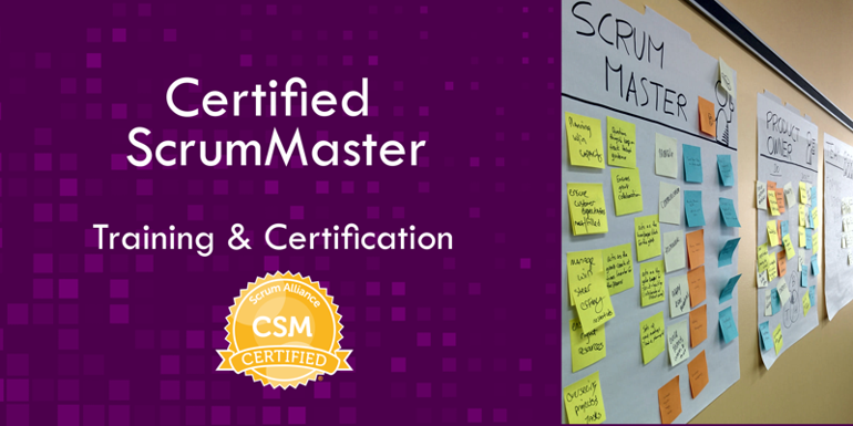 Certified Scrum Master training course banner