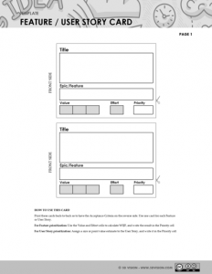 Feature User Story Card - 5D Vision